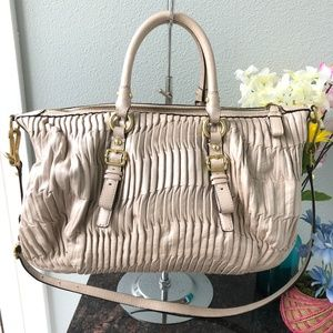 Coach Bags - Coach Madison Gathered Leather Satchel Bag
